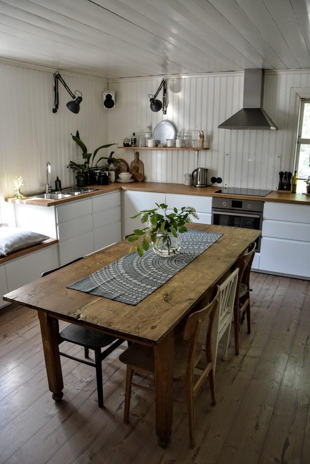 Kuchyně, starý finský dům, rekonstrukce