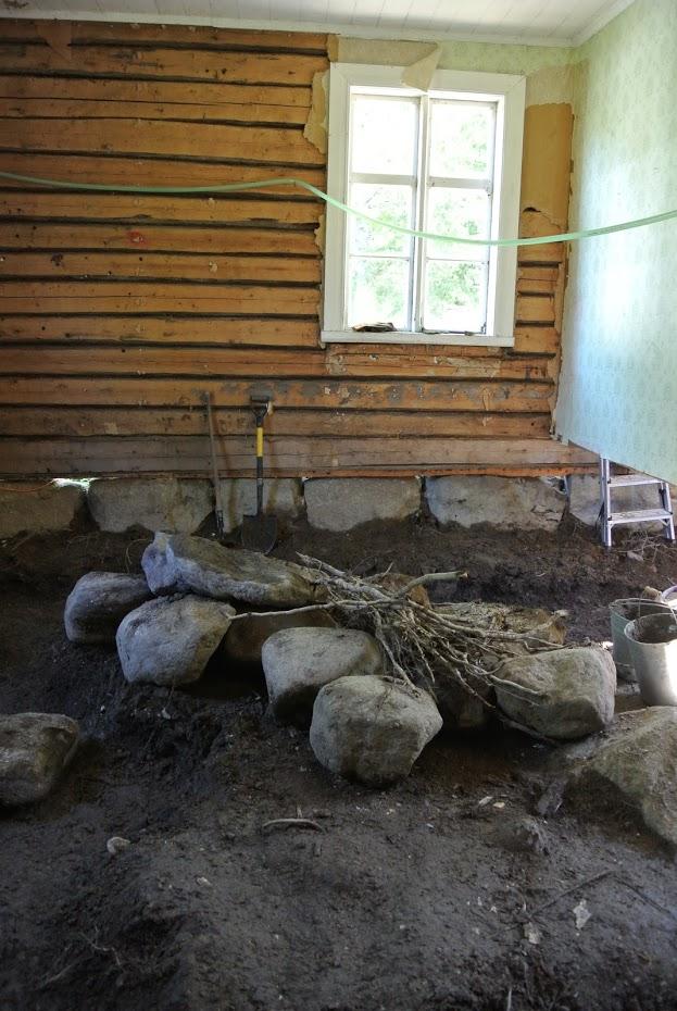 Starý dům, rekonstrukce domu, Finsko