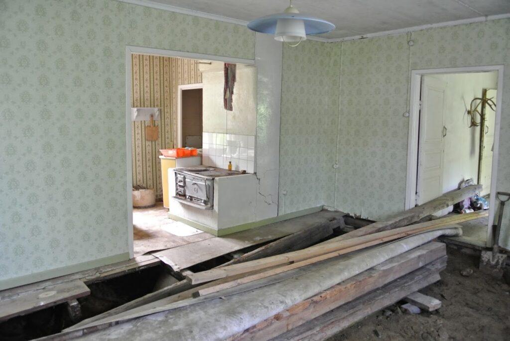 Finsko, starý dům, rekonstrukce