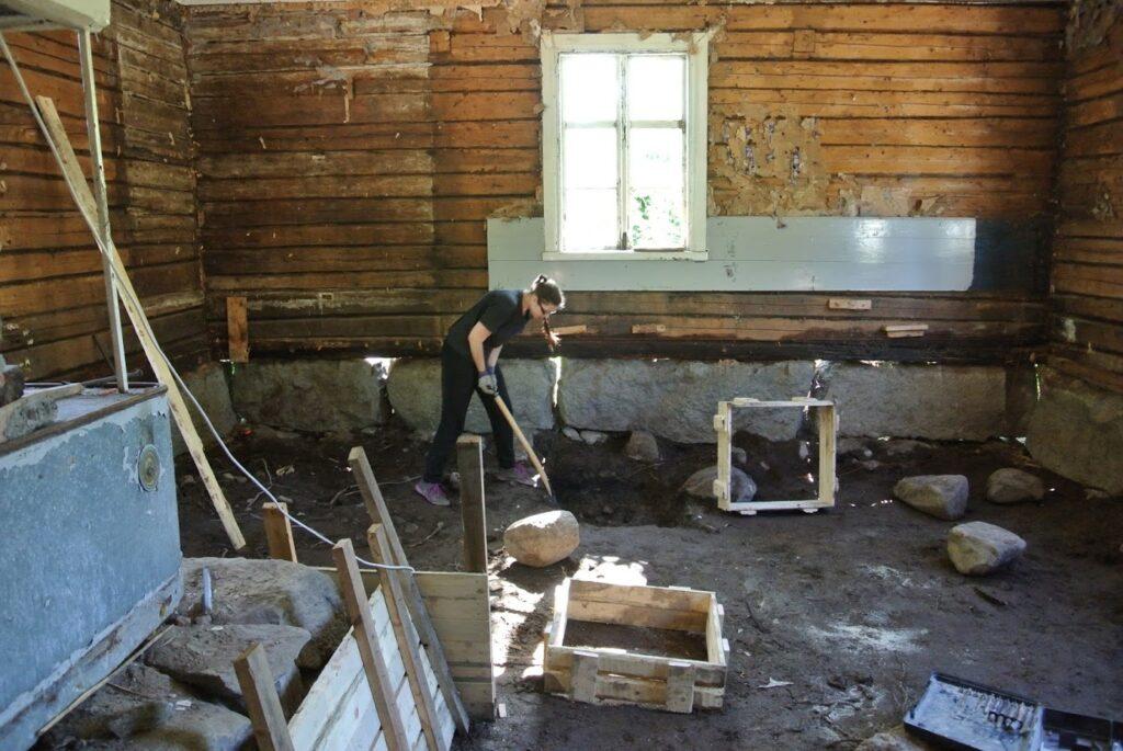 Stará dřevostavba, Finsko, rekonstrukce