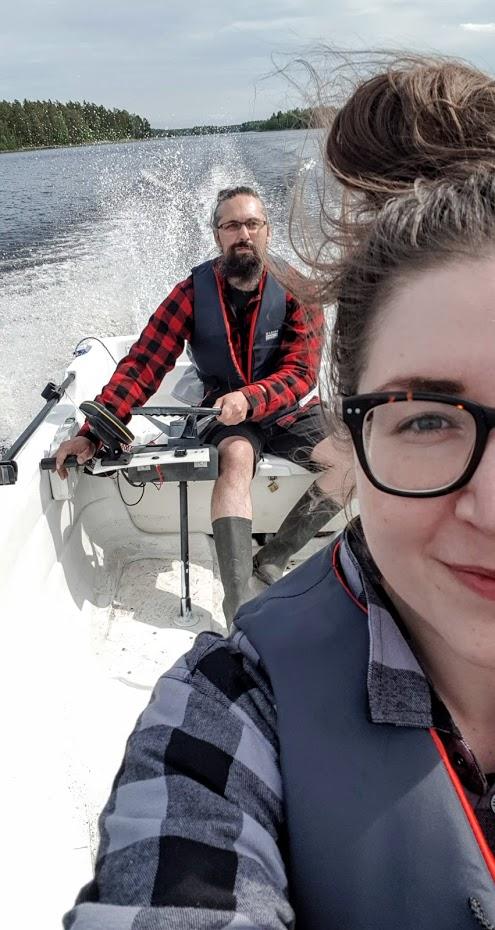 Cesta lodí, jezero, Finsko