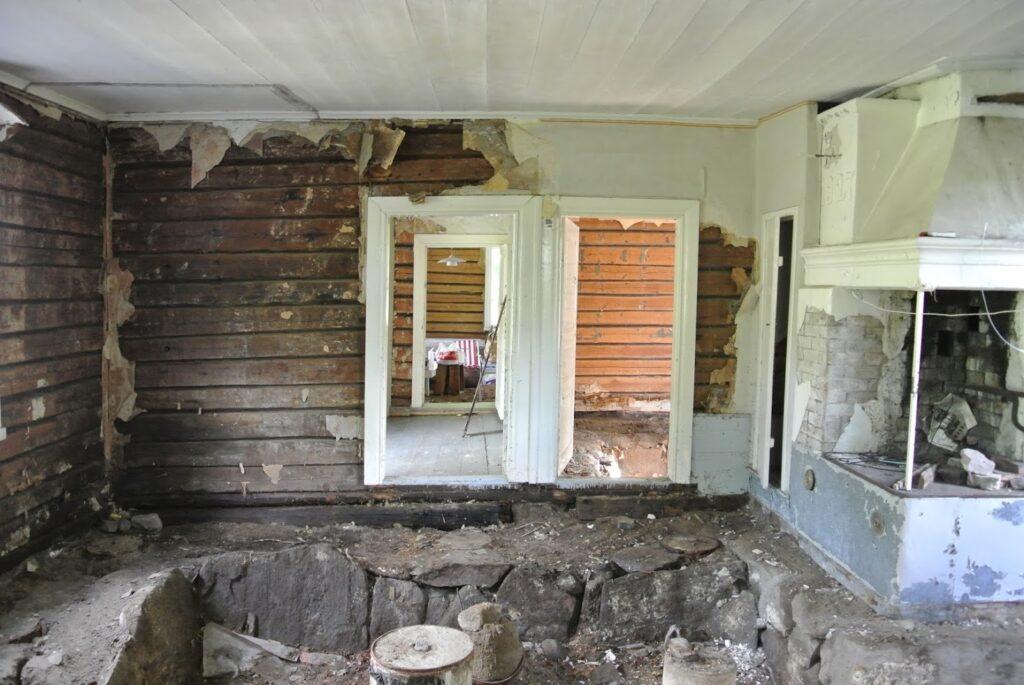 Rekonstrukce dřevostavby ve Finsku