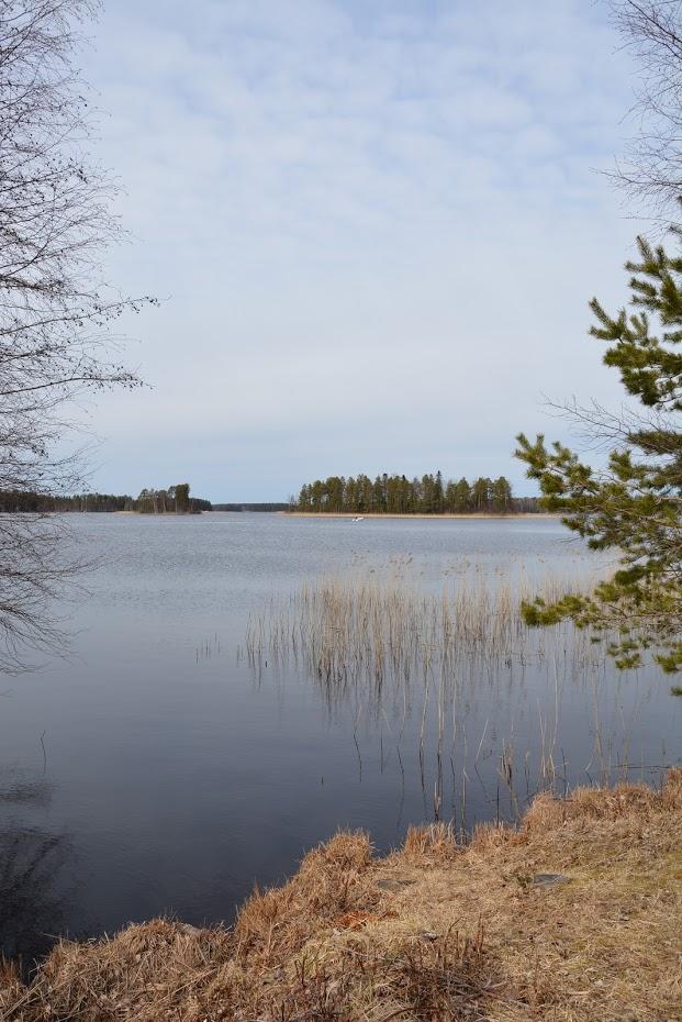 Finsko, pohled na jezero