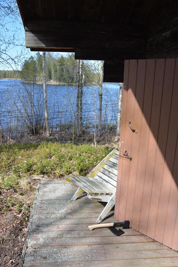 Finské jezero, chata na ostrově