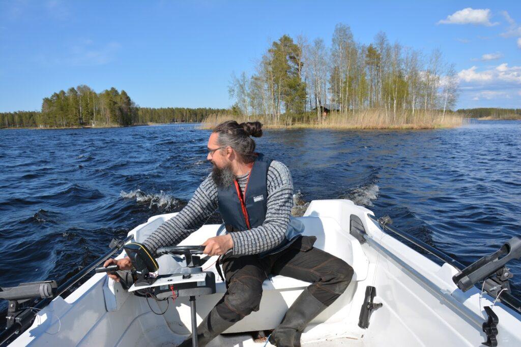 Finsko, finské jezero, ostrov, cesta lodí