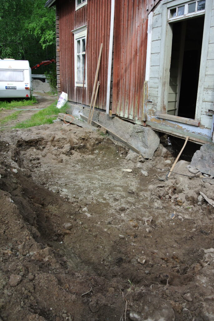 Finsko, rekonstrukce domu