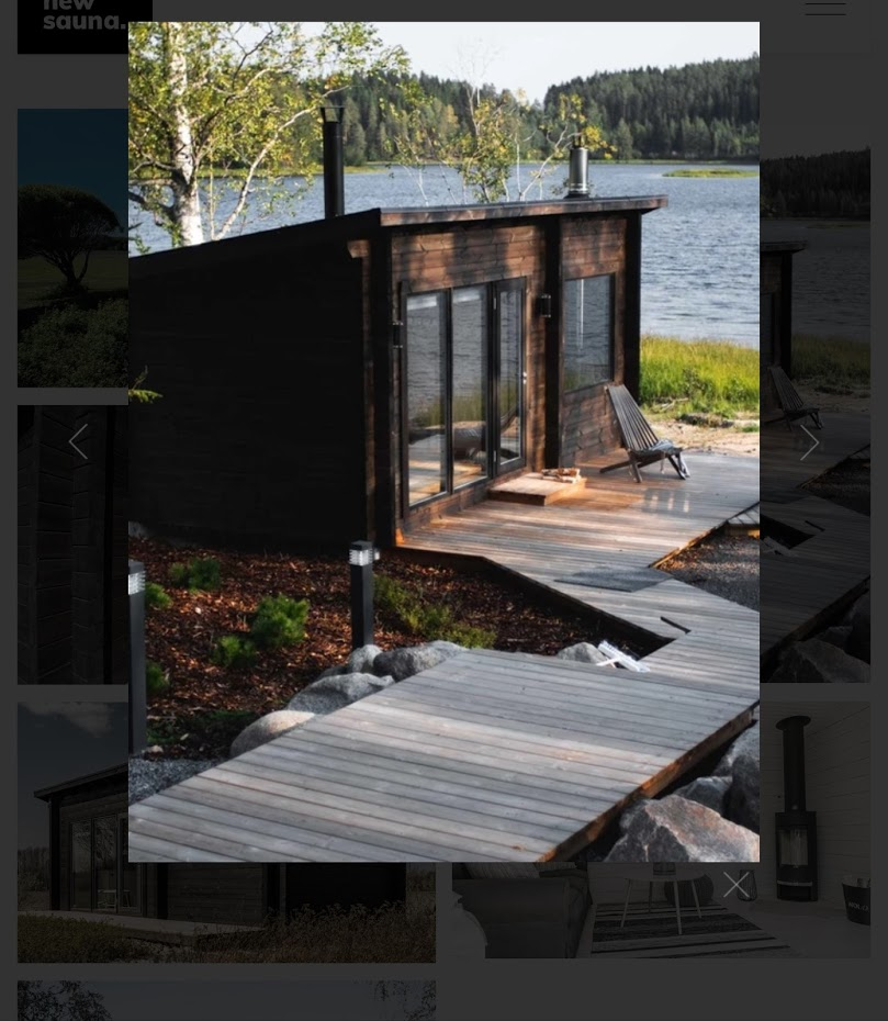 Vysněná sauna na břehu jezera