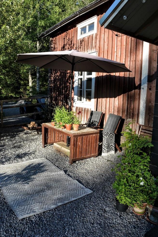 Finsko, dřevostavba, terasa