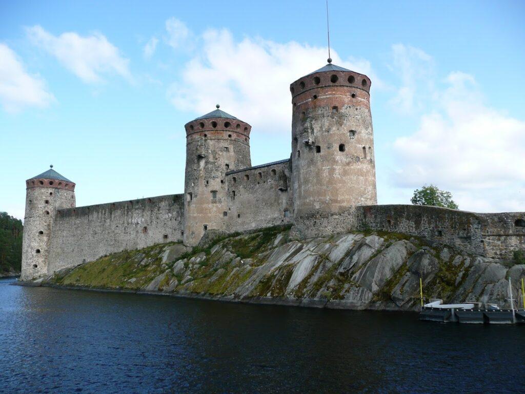 Olavinlinna, hrad, Finsko, vodní hrad