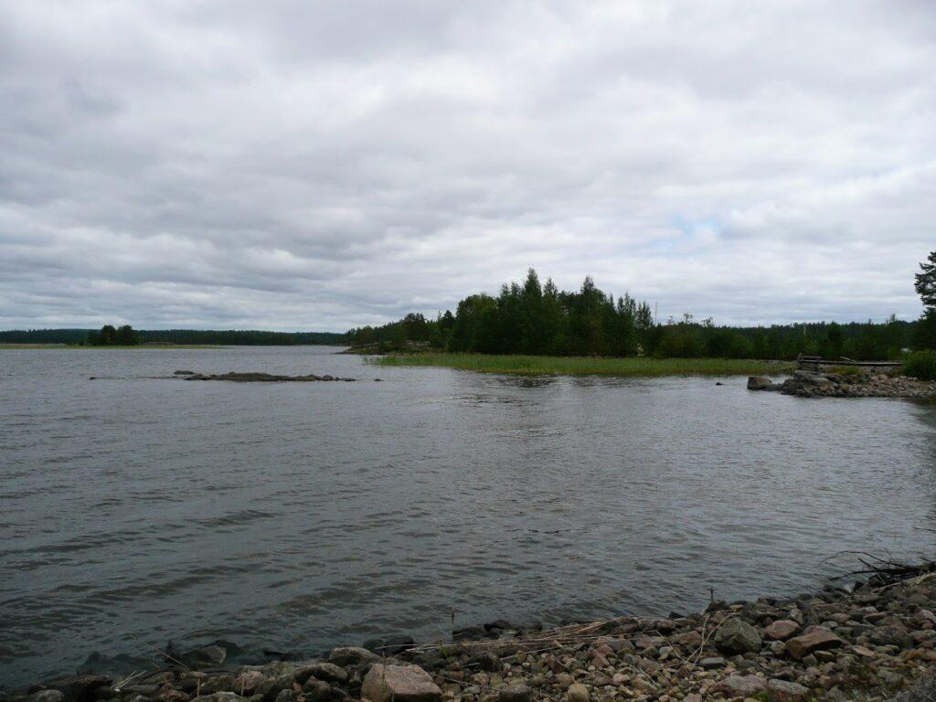 Finsko, jezero, kemp