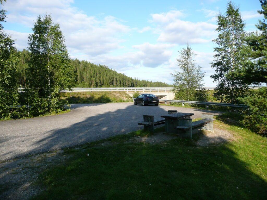 Finsko, parkoviště, příroda