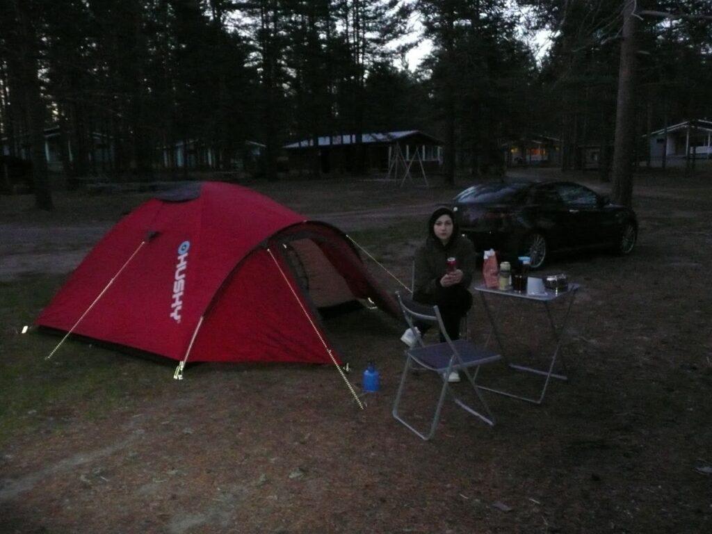 Kempování, Finsko,