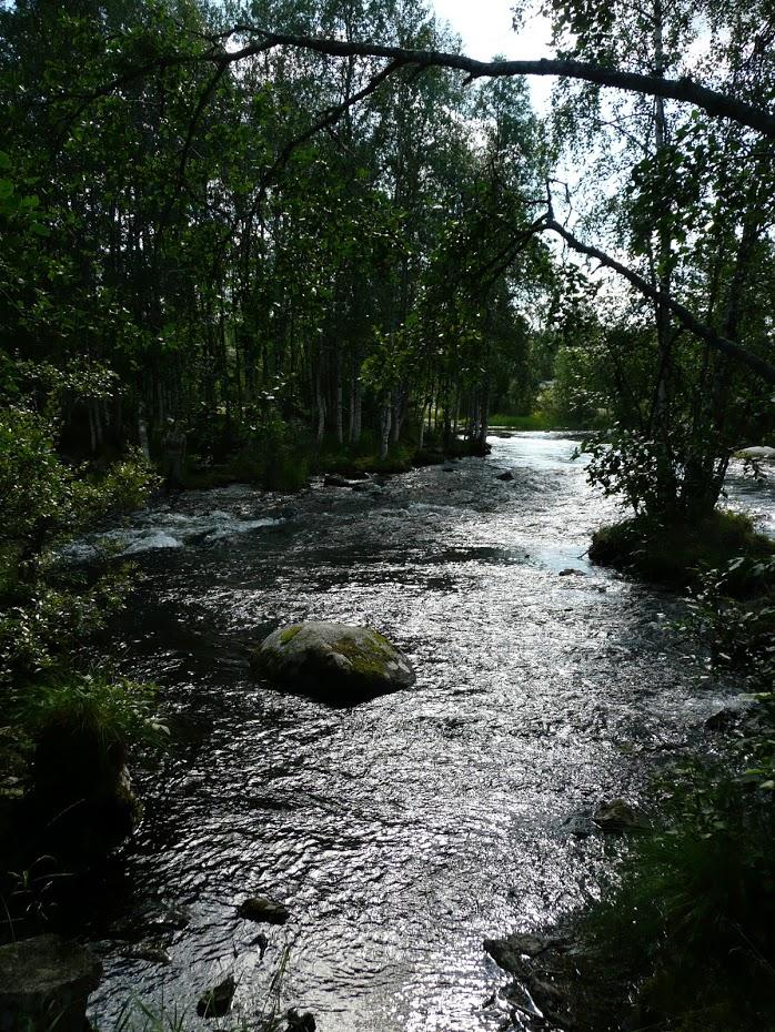 Finsko, řeka, krásná příroda