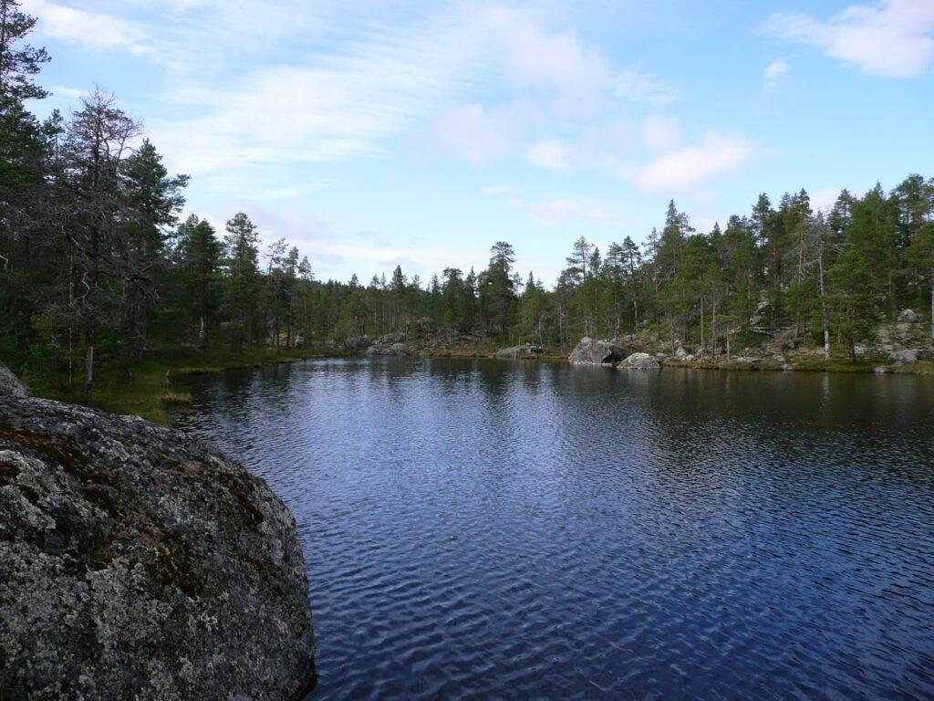 Finsko, jezero