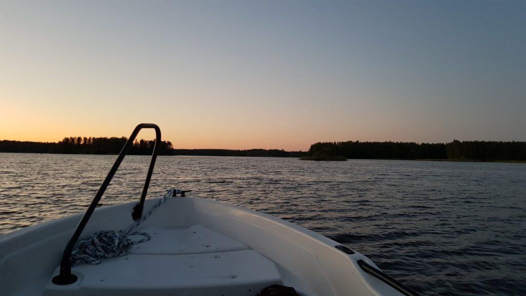 jezero, loď