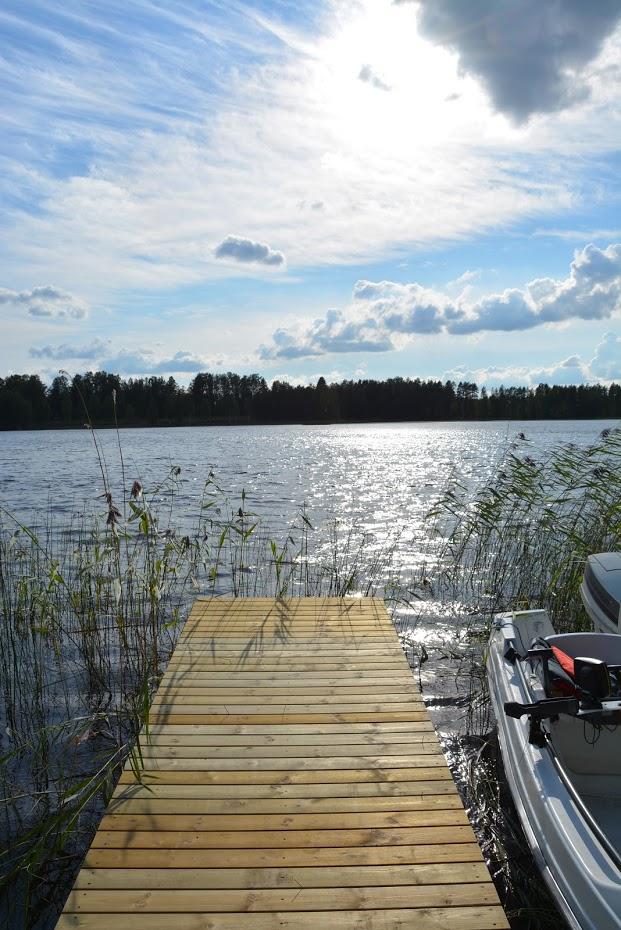 molo, finské jezero