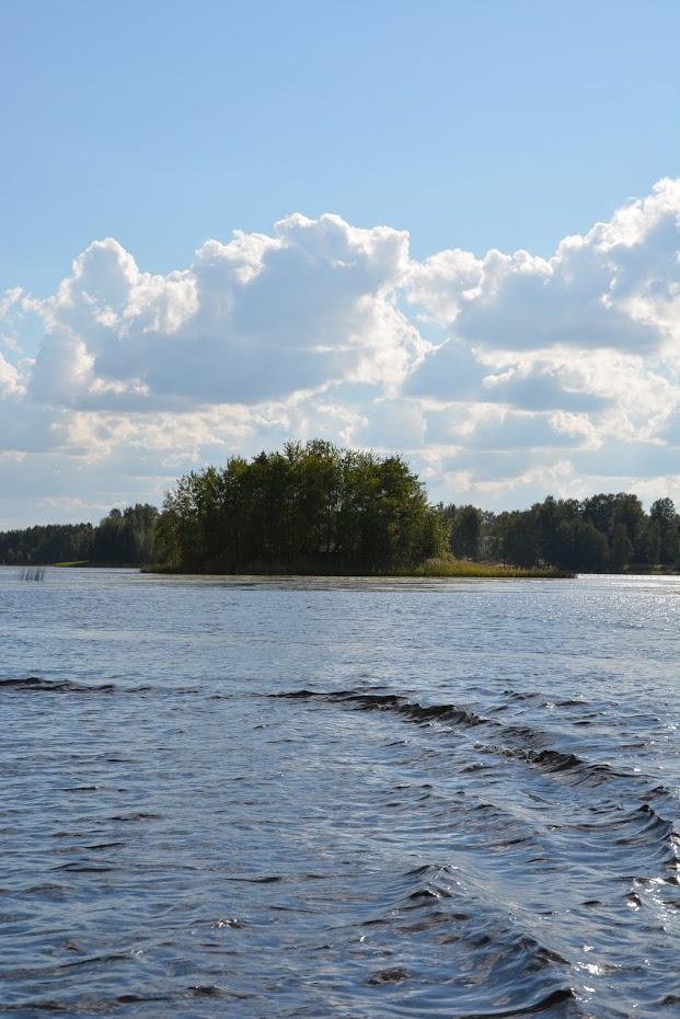 ostrov, jezero