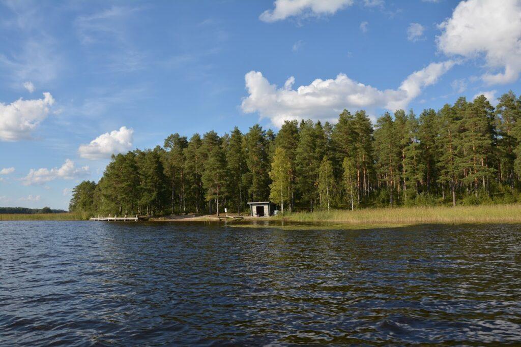 jezero, grilovací místo