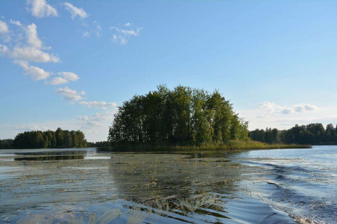 ostrov na finském jezeře
