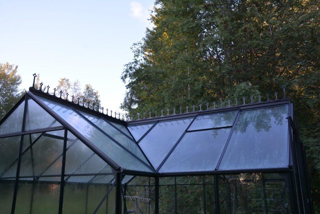 hřeben skleníku, skleník ve viktoriánském stylu