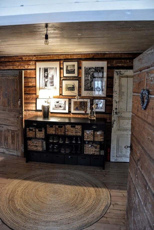 photo wall, roubenka, dřevostavba, interiér dřevostavby
