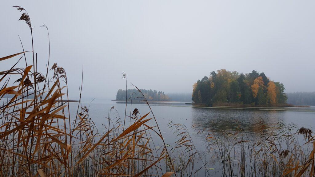 blog o Finsku, finské jezero, podzim