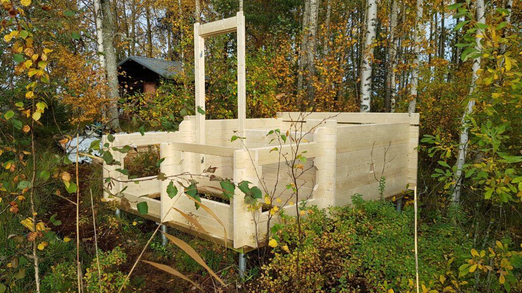 umístění sauny vůči chatě