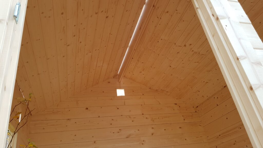 Finská sauna - strop