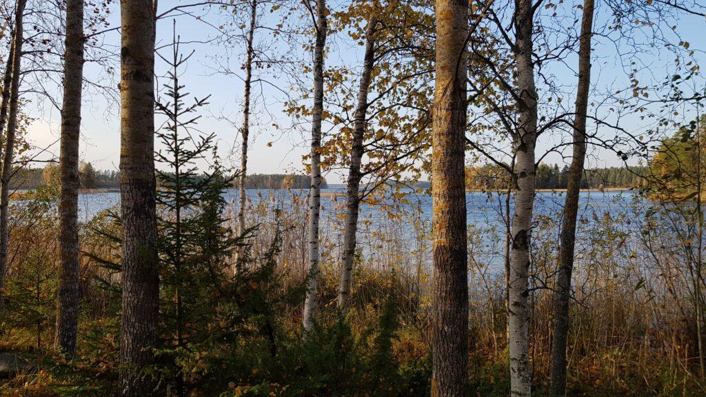 u jezera, chata u jezera, chata ve Finsku