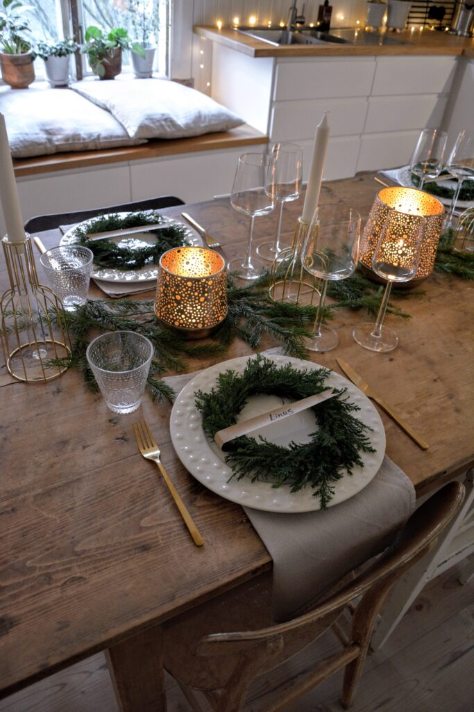 vánoční prostření, severský design