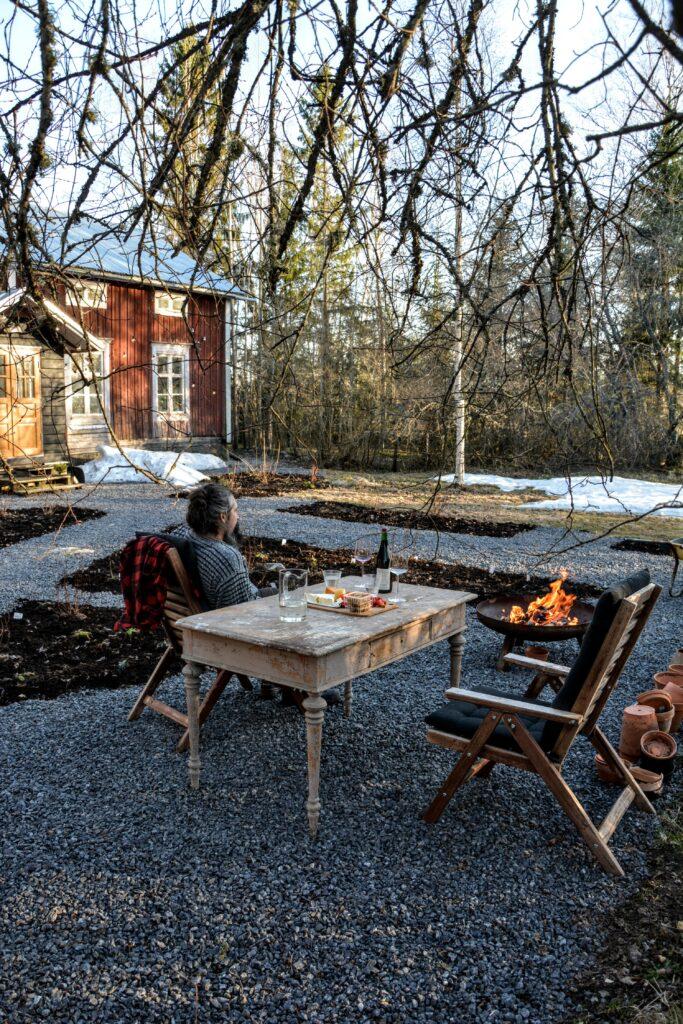 červený dům, finská dřevostavba