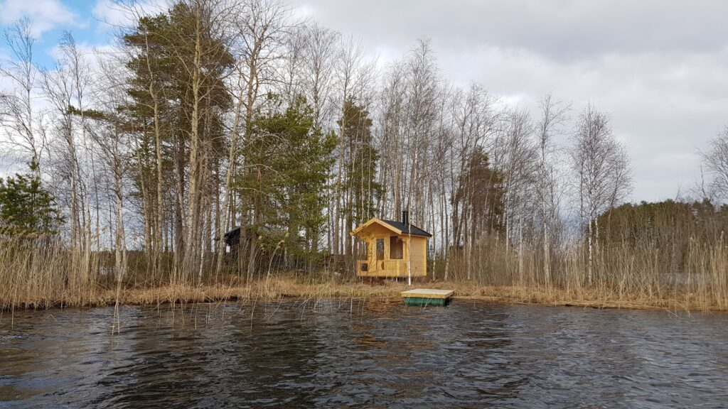diy sauna u vody