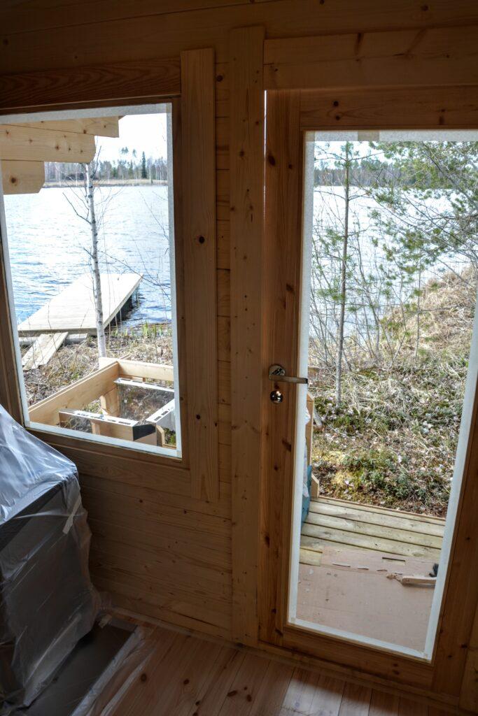 výhled ze sauny