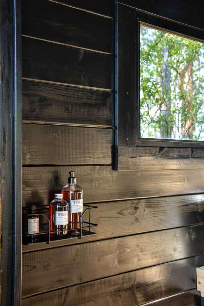 interiér sauny, Osmia Terva